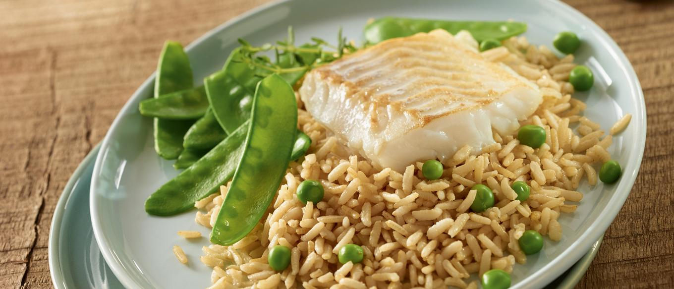 Ben's Original France Landing Page Brown Rice and Cod Image