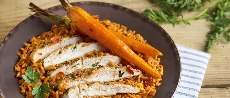 Ben's Original France Landing Page Mediterranean Rice and Chicken Image