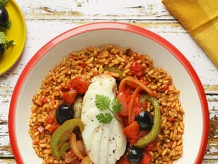 Ben's Original France Landing Page Cod and Mediterranean Rice Image