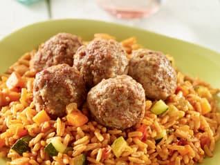 Ben's Original France Landing Page Meatballs and Vegetables Image